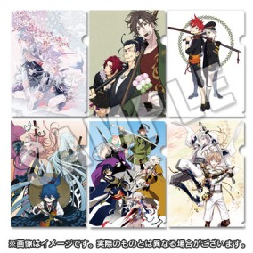 Touken Ranbu: Original Illustration A4 File Folder 6-Piece Set