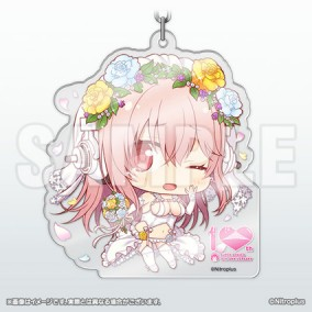 Super Sonico: 10th Anniversary -Chimi Acrylic Key Holder
